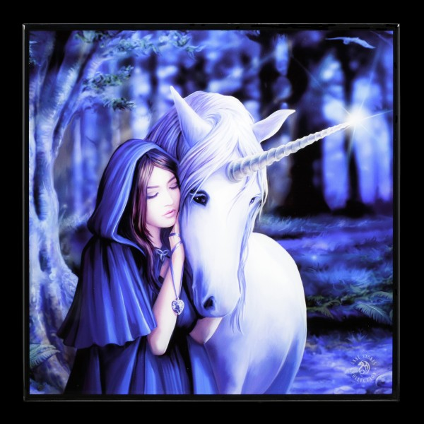 Small Crystal Clear Picture with Unicorn - Solace