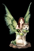 Elfen Figur - Sina mit Wolf