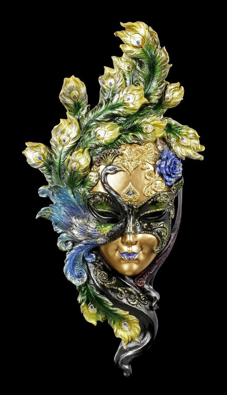 Venetian Mask - Peacock Garden - colored