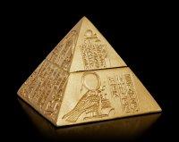 Pyramid Box with Hieroglyphics