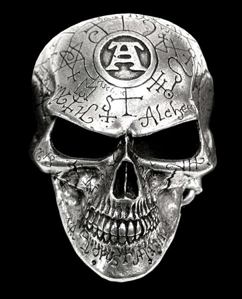 Totenkopf Gürtelschnalle - Omega Skull