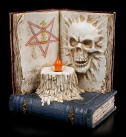 Totenbuch mit LED Kerze