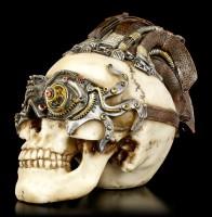 Steampunk Totenkopf - Dreadlock Device klein
