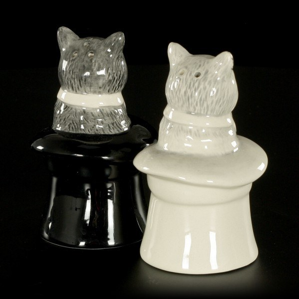 Cats in Hats - Salt and Pepper