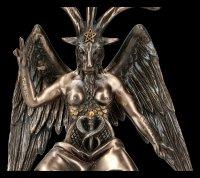 Baphomet Figurine on Pentagram - bronze colored