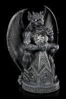 Gargoyle Figurine on Cathedral with LED