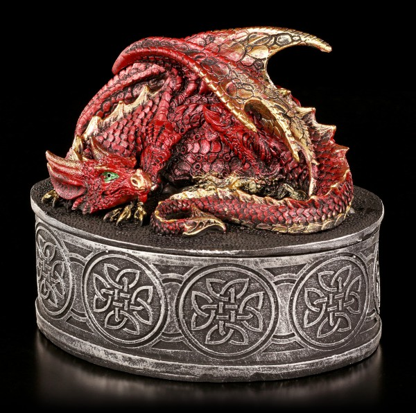 Drachen Schatulle - Vermillion rot