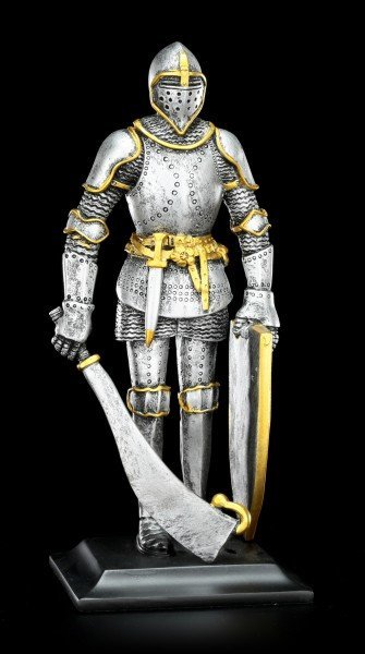Knight Figurine with Broadsword and Shield
