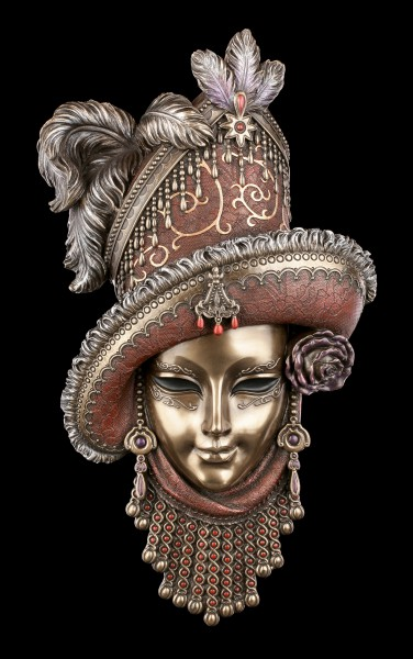 Venezian Mask with Hat and Feathers