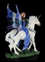 Elfen Figur auf Einhorn - Realm of Enchantment