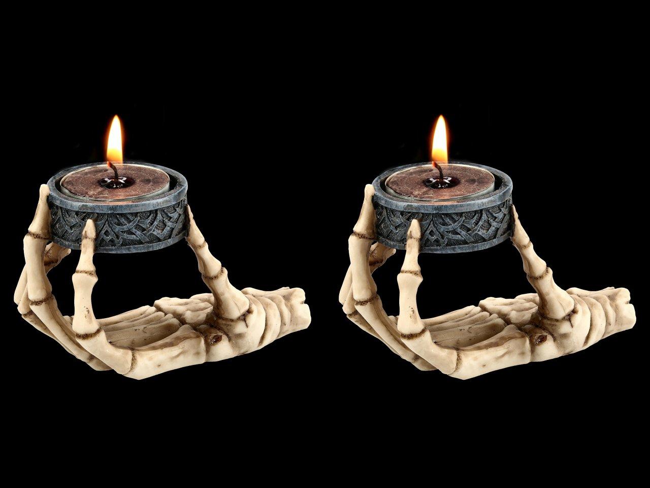 Skeleton Hand Tealight Holder - Set of 2