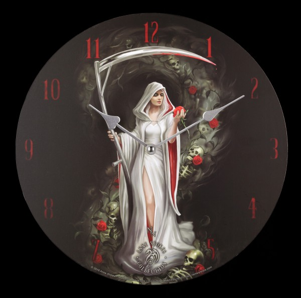 Wanduhr Weiblicher Reaper - Life Blood by Anne Stokes