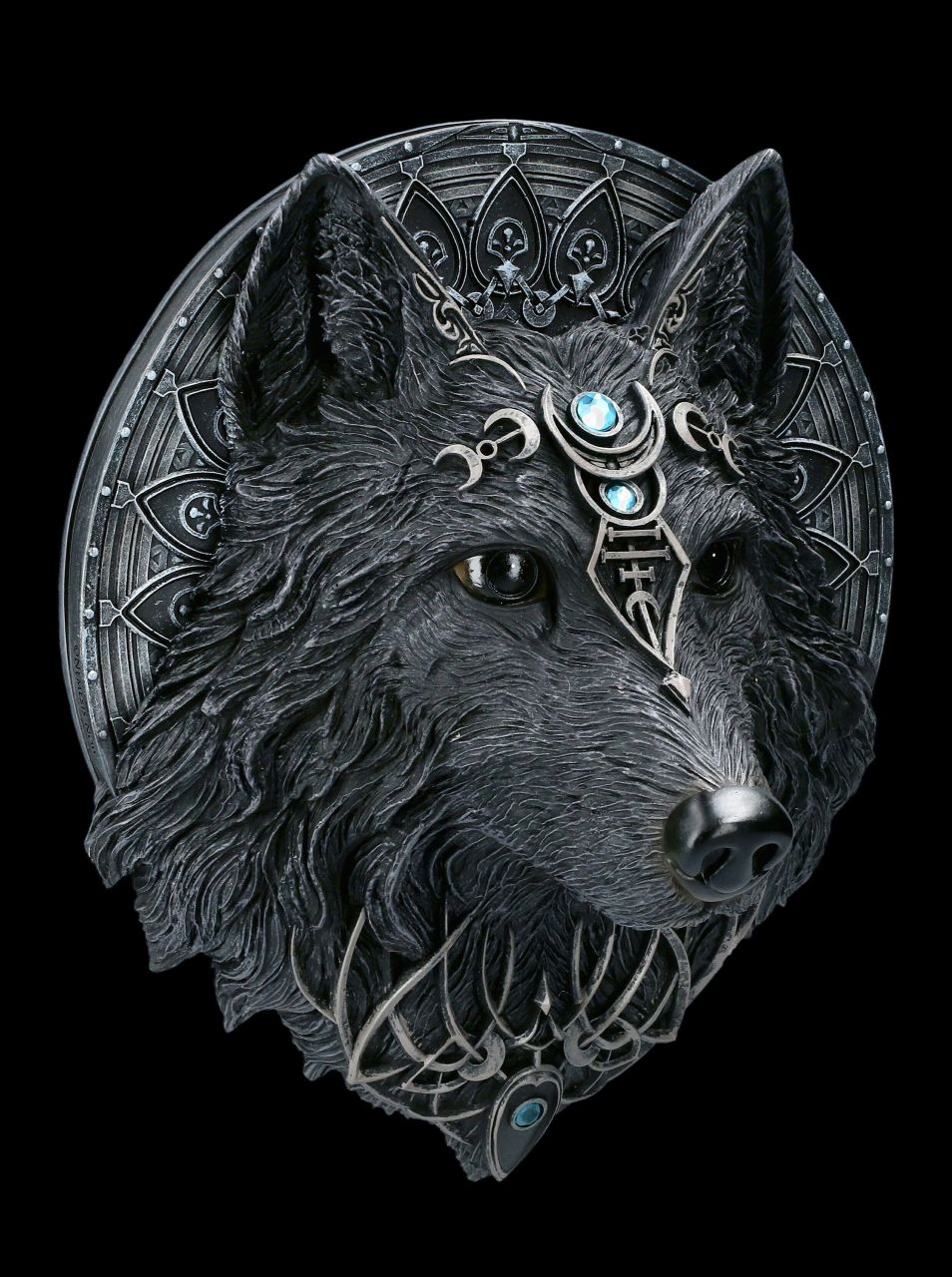 Gothic Wall Plaque - Wolf Moon