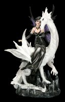 Fairy Figurine - Dragolina sits on a Dragon