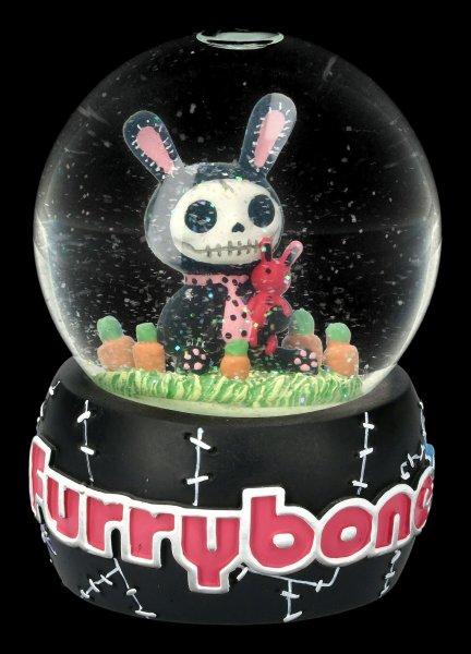 Furrybones Snow Globe - Black Bun-Bun