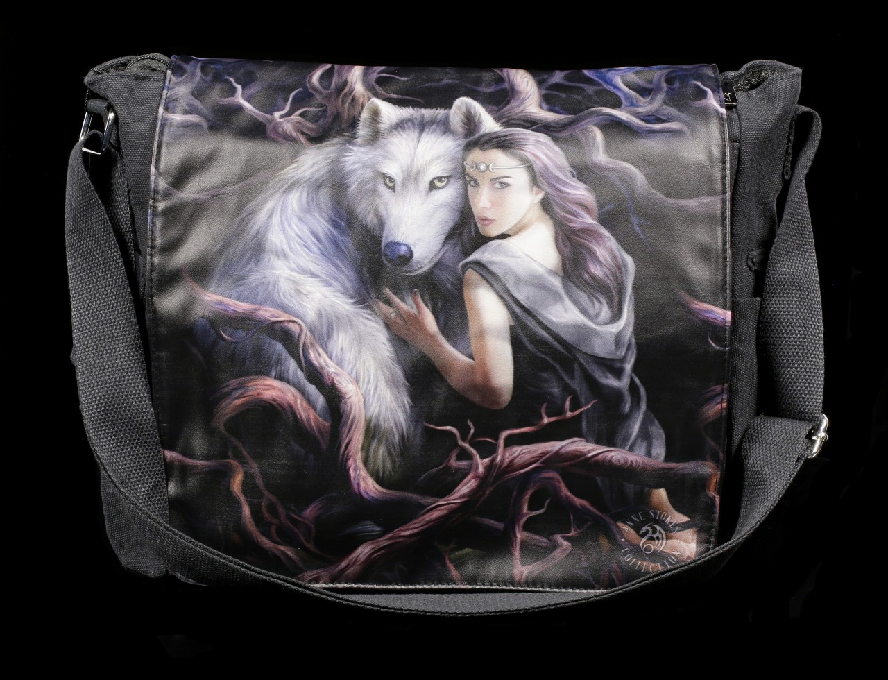 Messenger Bag with Wolf - Soul Bond