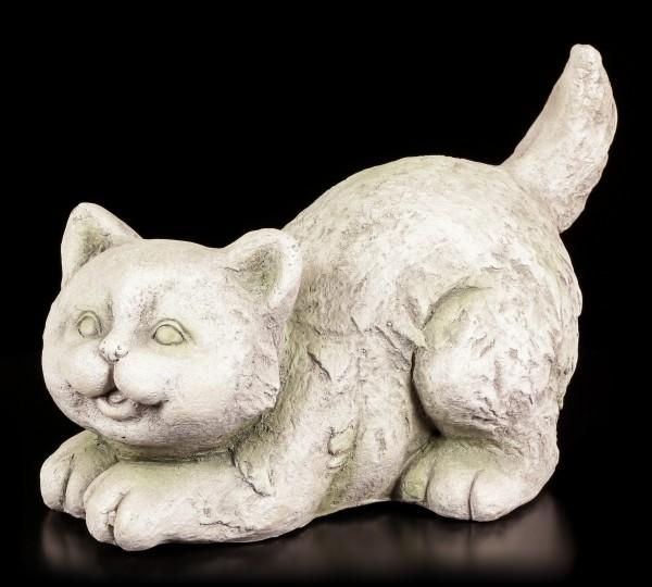 Gartenfigur - Verspielte Katze