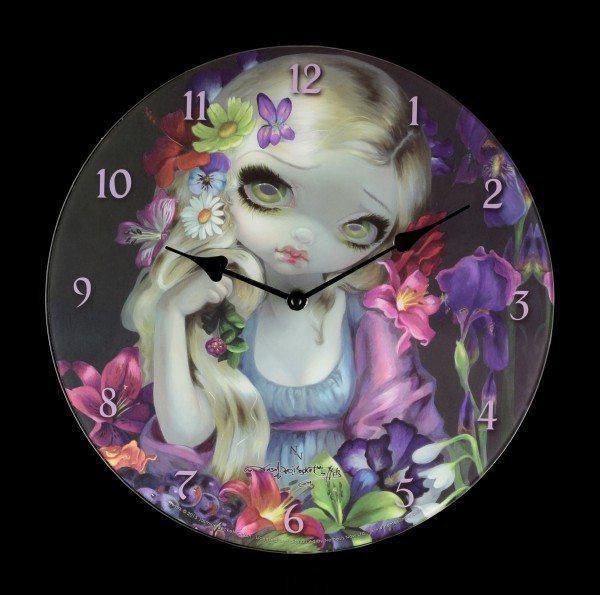 Glass Clock - Flora