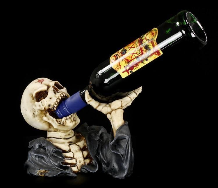 Flaschenhalter - Skelett Säufer