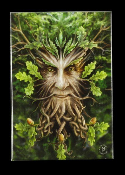 Magnet Fantasy - Oak King by Anne Stokes