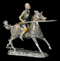 Pewter Knight with Lance on Horse
