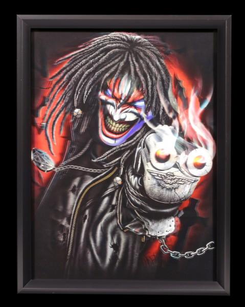 3D-Bild im Rahmen - Killer Clown