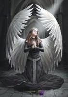 Fantasy Grußkarte Gothic Engel - Prayer For The Fallen