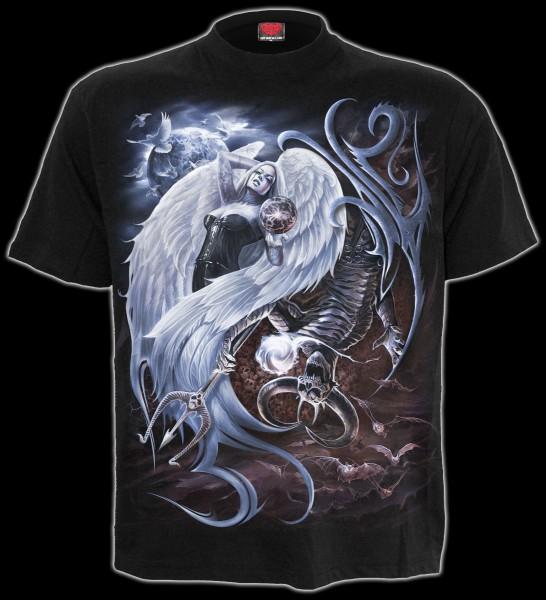 T-Shirt Gothic - Yin Yang Teufel & Engel
