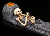 Räucherstäbchenhalter Skelett
