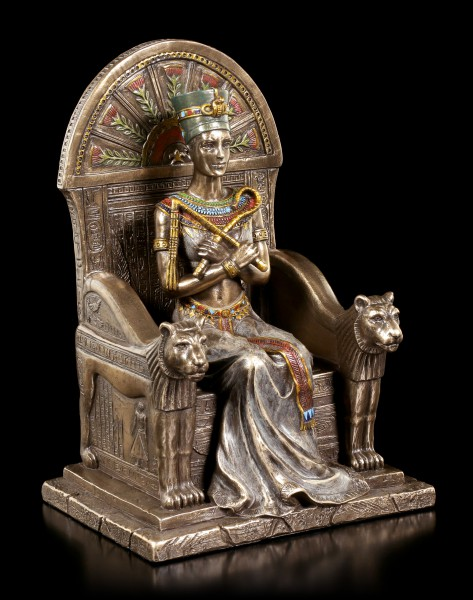 Nefertiti Figurine sitting on Throne