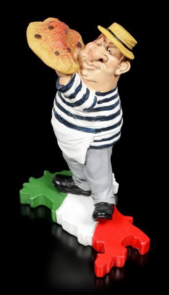 Funny Job Figurine - Pizza Maker on Italy Flag