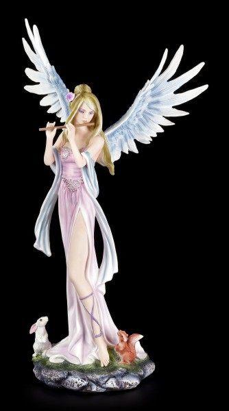 Angel Figurine - Amelie playing Flute