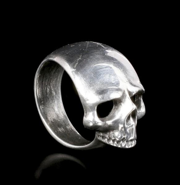 Alchemy Gothic Ring - Schadel Schief