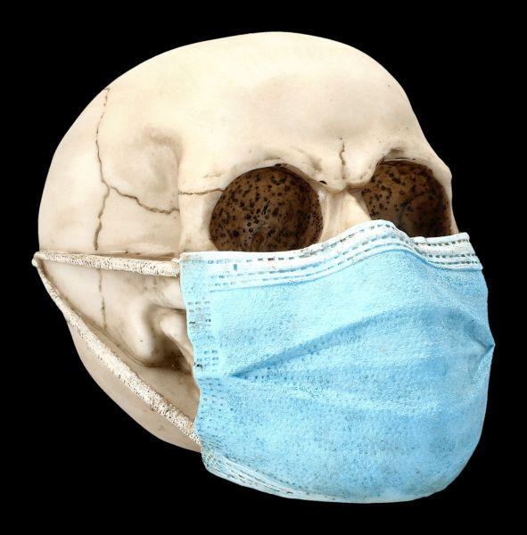 Totenkopf Figur mit Mundschutz - Masked Skull