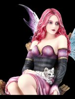 Fairy Figurine - Arien with Baby Tiger