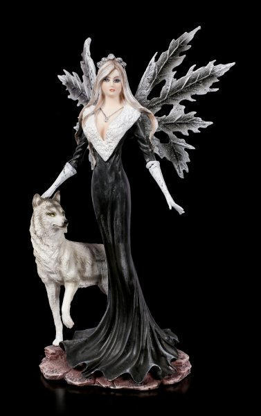 Fairy Figurine - Dark Aura with Wolf