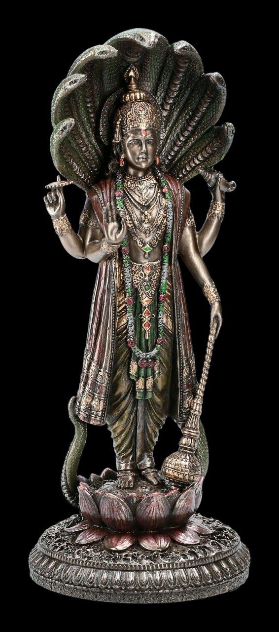 Vishnu Figur mit Schlange Shesha