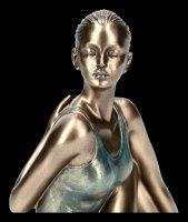 Female Yoga Figurine - Ardha Matsyendra-Asana Position