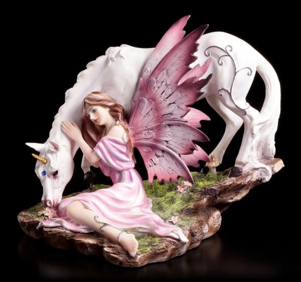 Elfen Figur mit Einhorn - Calmina