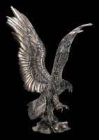 Large Eagle Figurine in Attack - bronzed