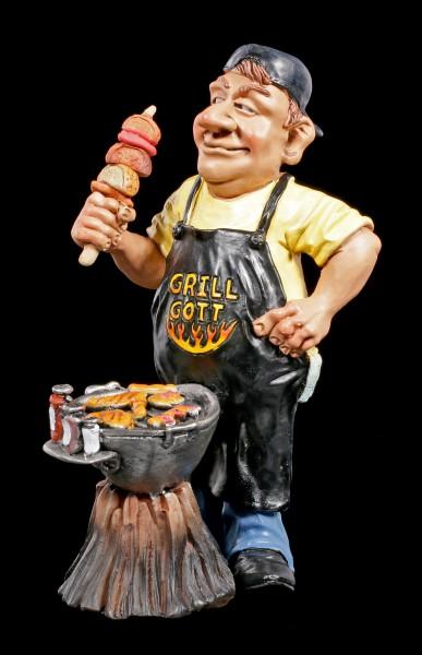 Grillmeister Figur mit Fleisch und Würstchen