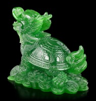 Feng Shui Figurine - Dragon Turtle jade colored