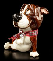 Dog Figurine - Bull Terrier Chaz - Little Paws