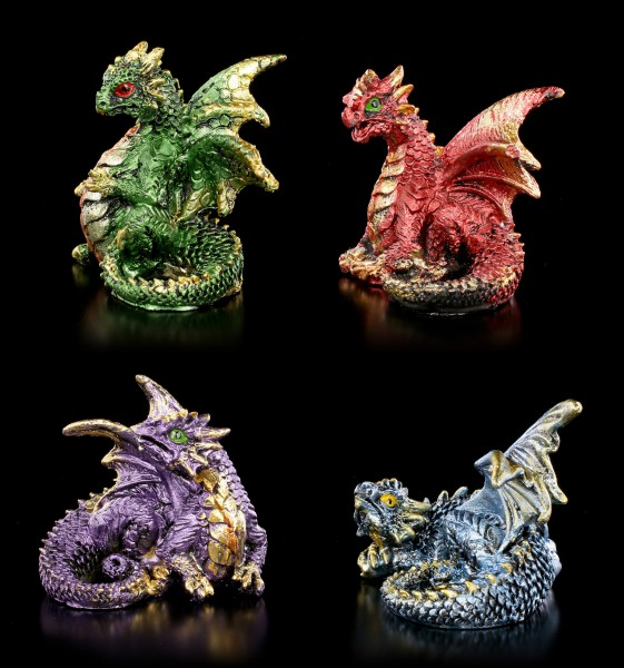 Small Dragon Figurines Set of 4 - Over and Done