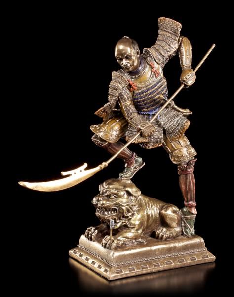 Samurai Figur - Krieger mit Naginata