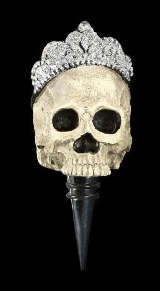 Flaschenstopfen - Totenkopf mit Krone