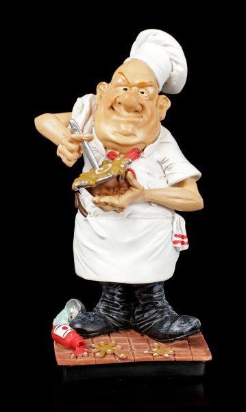 Funny Job Figurine - Chef stirs Sauce
