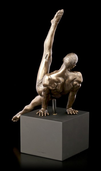 Male Nude Figurine - Turning Exercise on Monolith