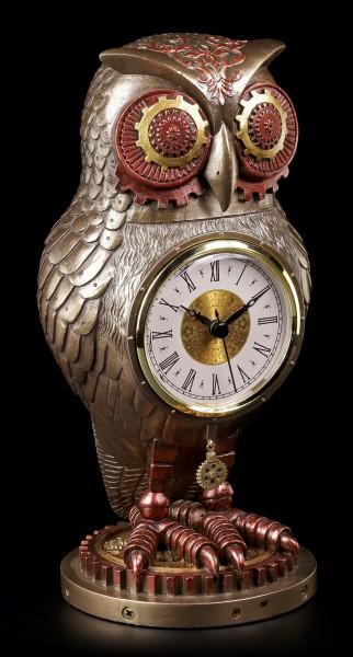 Steampunk Figur - Eule mit Uhr