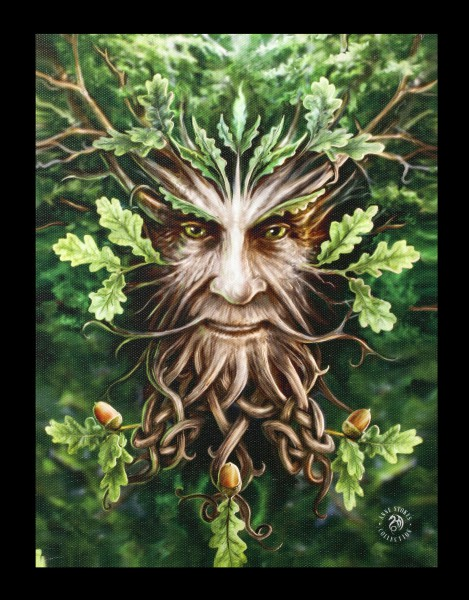 Small Canvas - Oak King by Anne Stokes